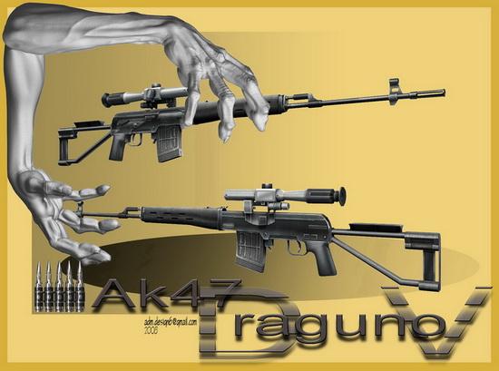AK 47 - Tgr.DRAGUNOV New 7,62x54R...