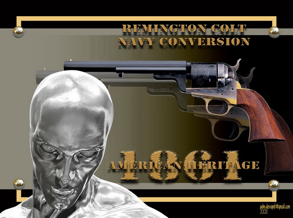 1861 - American Heritage - Remington Colt Navy Conversion...