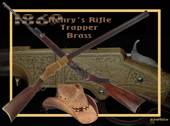 1869 - Henry's Rifle - Trapper Brass...