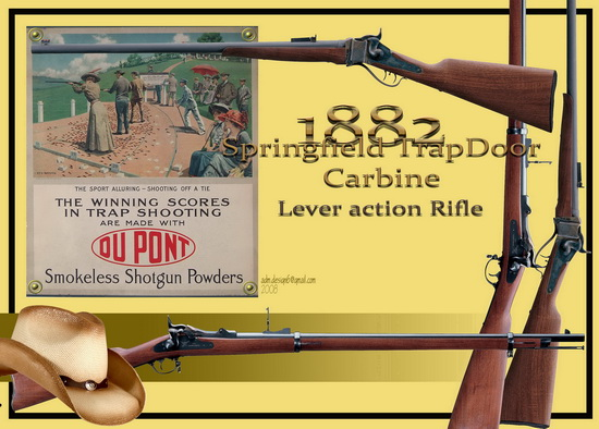 1882 - Springfield TrapDoor Carbine...Lever action Rifle...