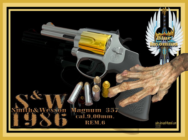 1986 - S&W Magnum 357, cal.9,00mm, REM.6...