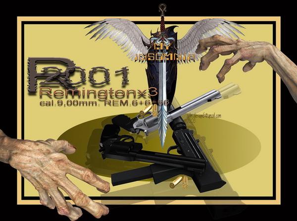 2001 - Remintonx3, cal.9,00mm. REM.6+6+66...