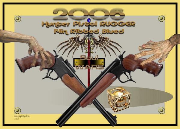 2006 - Hunter Pistol Rugger 14in Ribbed Blued...