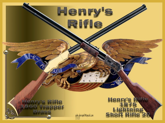 Henry's Rifle 1860 - Trapper Brass...