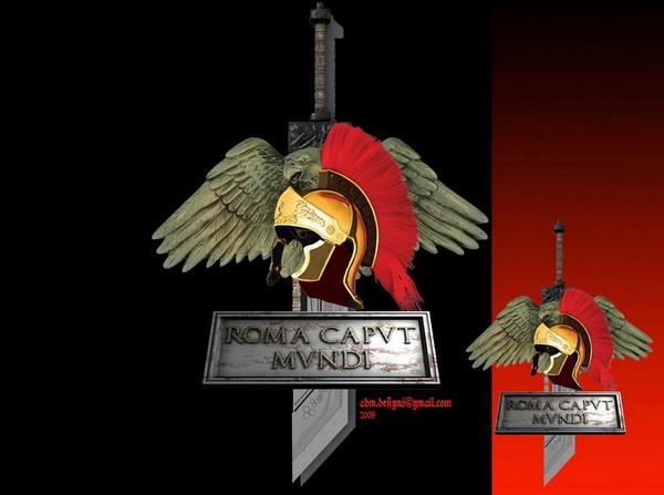 Sigla ROMA CAPUT MUNDI...